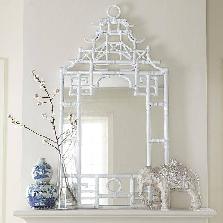 White Mirror Intended For Bamboo Framed Wall Mirrors (#15 of 15)