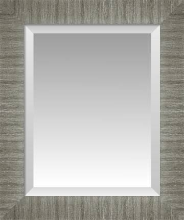 Wide Brushed Nickel Silver Beveled Wall Mirror | Custom Framed Throughout Brushed Nickel Wall Mirrors (#15 of 15)