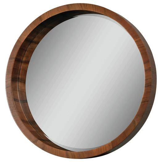 Wil Lucerne Round Wood Mirror Pertaining To Round Wood Framed Mirrors (#13 of 15)