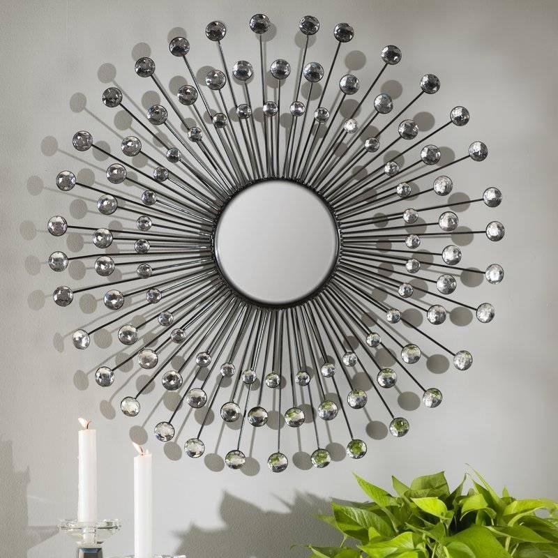 Willa Arlo Interiors Estrela Modern Sunburst Metal Wall Mirror Regarding Metal Wall Mirrors (View 11 of 15)
