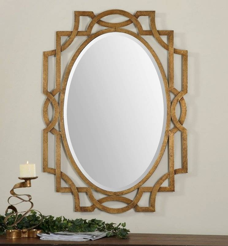 Willa Arlo Interiors Gold Oval Wall Mirror & Reviews | Wayfair Intended For Gold Oval Mirrors (#15 of 15)