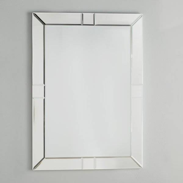 Willa Arlo Interiors Rectangle Beveled Wall Mirror & Reviews | Wayfair Throughout Beveled Wall Mirrors (View 10 of 15)