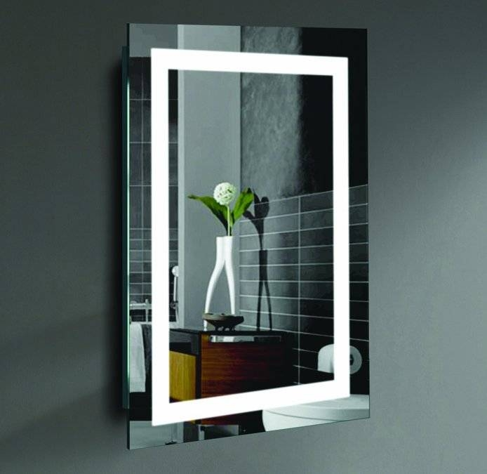 Willa Arlo Interiors Rectangle Led Lighted Wall Mirror & Reviews With Lighted Wall Mirrors (#14 of 15)