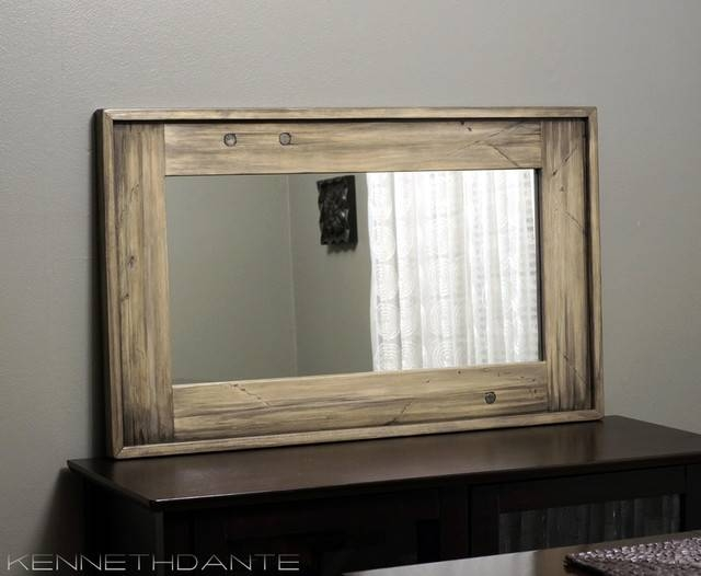 Wonderful Decoration Wood Framed Wall Mirrors Stylist Ideas Inside Wooden Framed Wall Mirrors (#13 of 15)