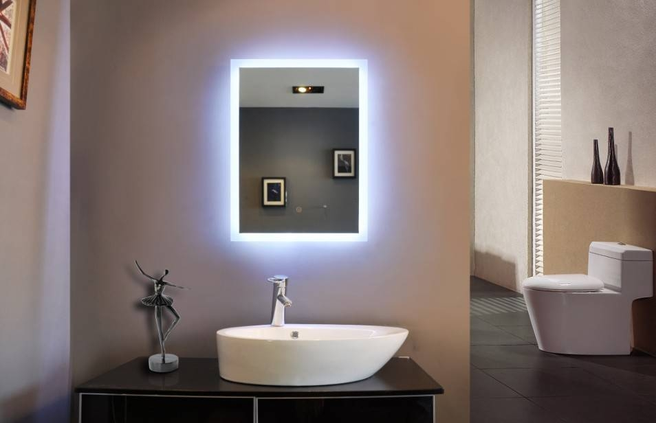 Wonderful Led Lighted Mirrors Bathrooms 41 About Remodel Home With Led Lit Bathroom Mirrors (#15 of 15)