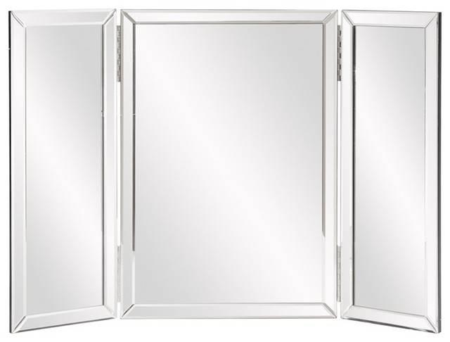 Wondrous Design Tri Fold Bathroom Wall Mirror Tripoli Trifold Within Tri Fold Bathroom Wall Mirrors (#15 of 15)