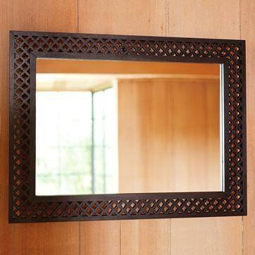 Wood Cutout Wall Mirror For Wooden Wall Mirrors (#13 of 15)