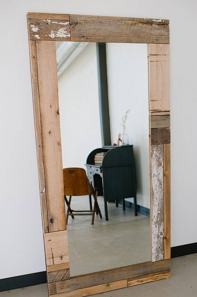 Wood Floor Mirror | Stel House & Home | Steamboat Springs, Co Pertaining To Custom Mirrors For Sale (#15 of 15)