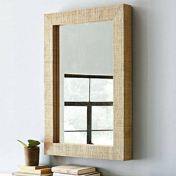 Wood Frame Mirror – Designlee Throughout Wood Framed Wall Mirrors (#14 of 15)