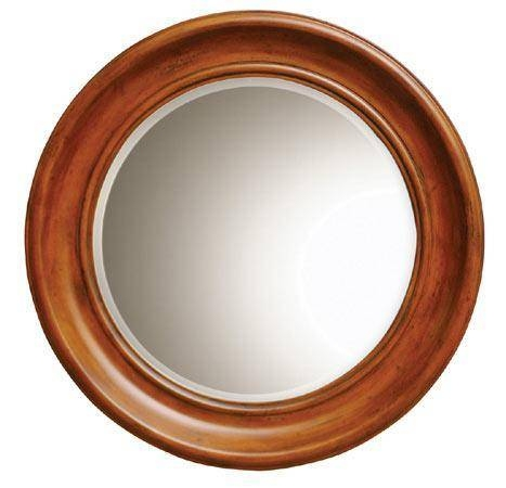 Wood Framed Bathroom Mirrors, Round Wooden Mirror With Frame In Round Wood Framed Mirrors (#15 of 15)