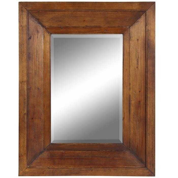 Inspiration about Wood Framed Mirrors: Sleek And Stylish – In Decors With Regard To Natural Wood Framed Mirrors (#6 of 15)