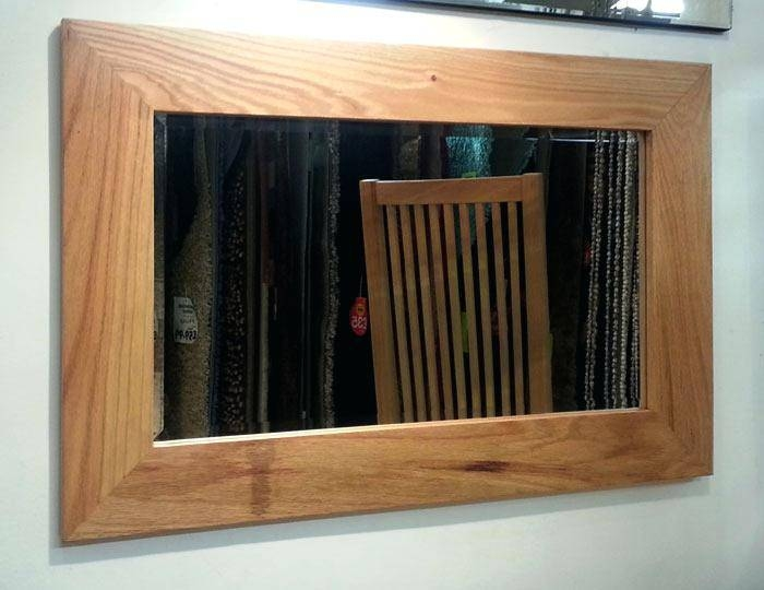 Wooden Framed Mirrors India Surprising Brown Square Rustic Mirror With Regard To Timber Mirrors (View 12 of 15)