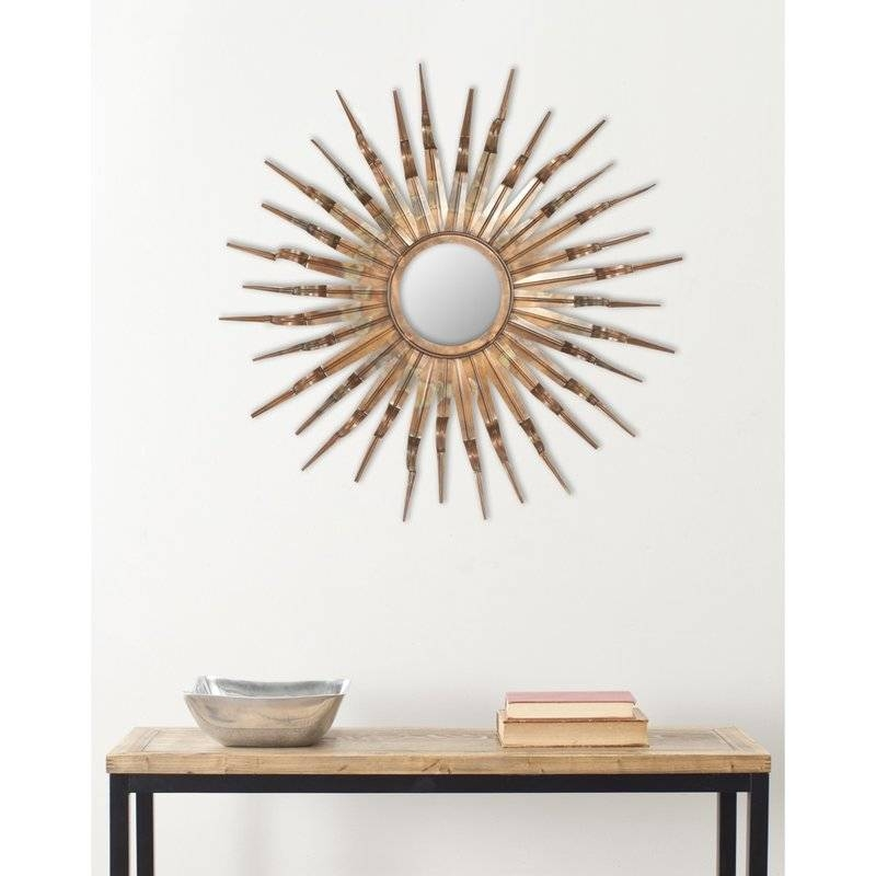 World Menagerie Bronze And Gold Sun Wall Mirror & Reviews | Wayfair Within Sun Wall Mirrors (#14 of 15)