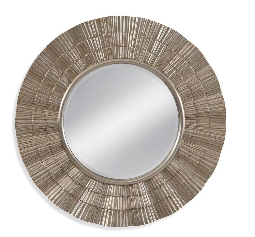 World Menagerie Luana Round Wall Mirror In Gold & Reviews   Wayfair Throughout Silver Round Wall Mirrors (View 8 of 15)