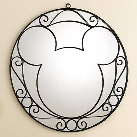 Wrought Iron Mickey Mouse Wall Mirror   Home & Decor   New Throughout Mickey Mouse Wall Mirrors (View 2 of 15)
