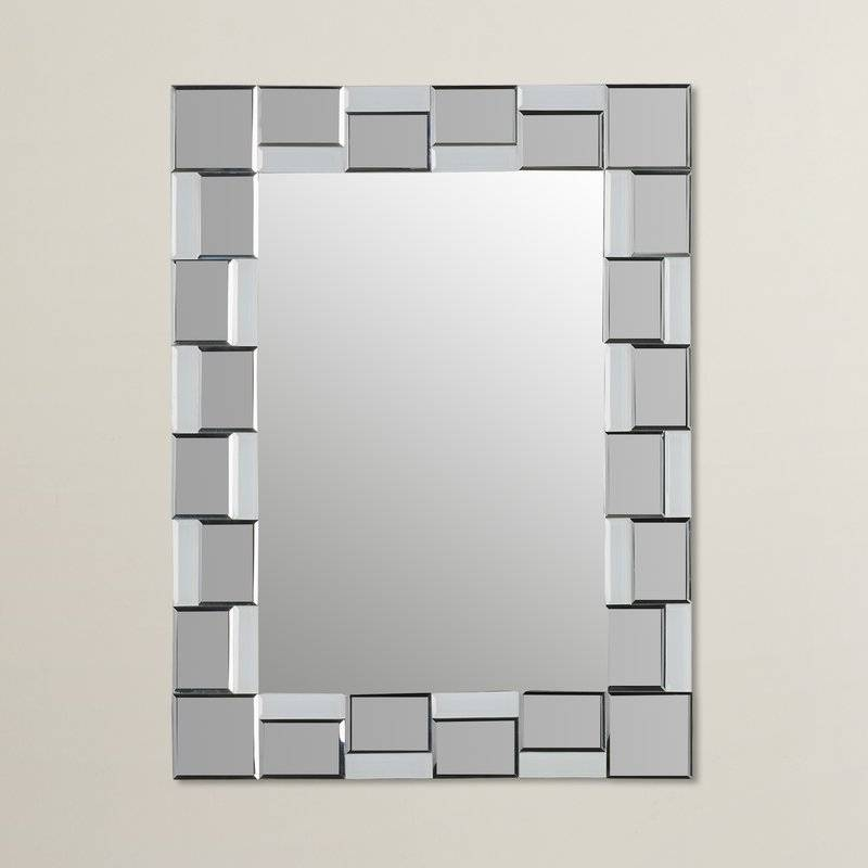 Wrought Studio Logan Modern Wall Mirror & Reviews | Wayfair Throughout Modern Wall Mirrors (#15 of 15)