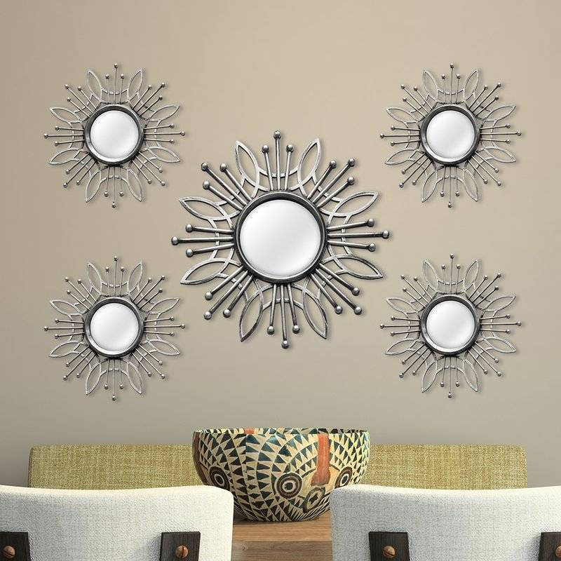 Inspiration about Zipcode Design 5 Piece Katy Burst Wall Mirror Set & Reviews | Wayfair With Set Of Wall Mirrors (#11 of 15)