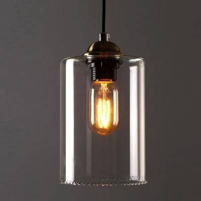 Inspiration about 1 Light Led Mini Pendant Light With Cylindrical Shade In Clear Inside Recent Shades Glass Mini Pendant Light (#9 of 15)