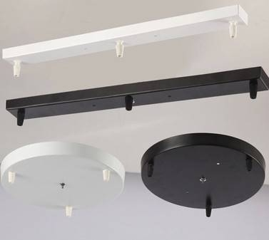 1 Piece White/black/chrome Rectangle Ceiling Plate Ceiling Canopy Pertaining To Most Recent Pendant Lights For Ceiling Plate (#1 of 15)