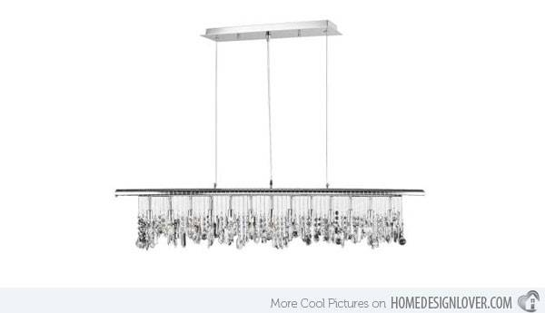 15 Glamorous Crystal Rectangular And Linear Pendant Lights | Home Within Most Recent Rectangular Pendant Lights (#1 of 15)