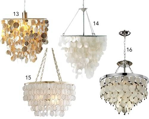 16 Capiz Shell Pendants & Chandeliers Pertaining To Most Popular Shell Pendant Lights (#2 of 15)