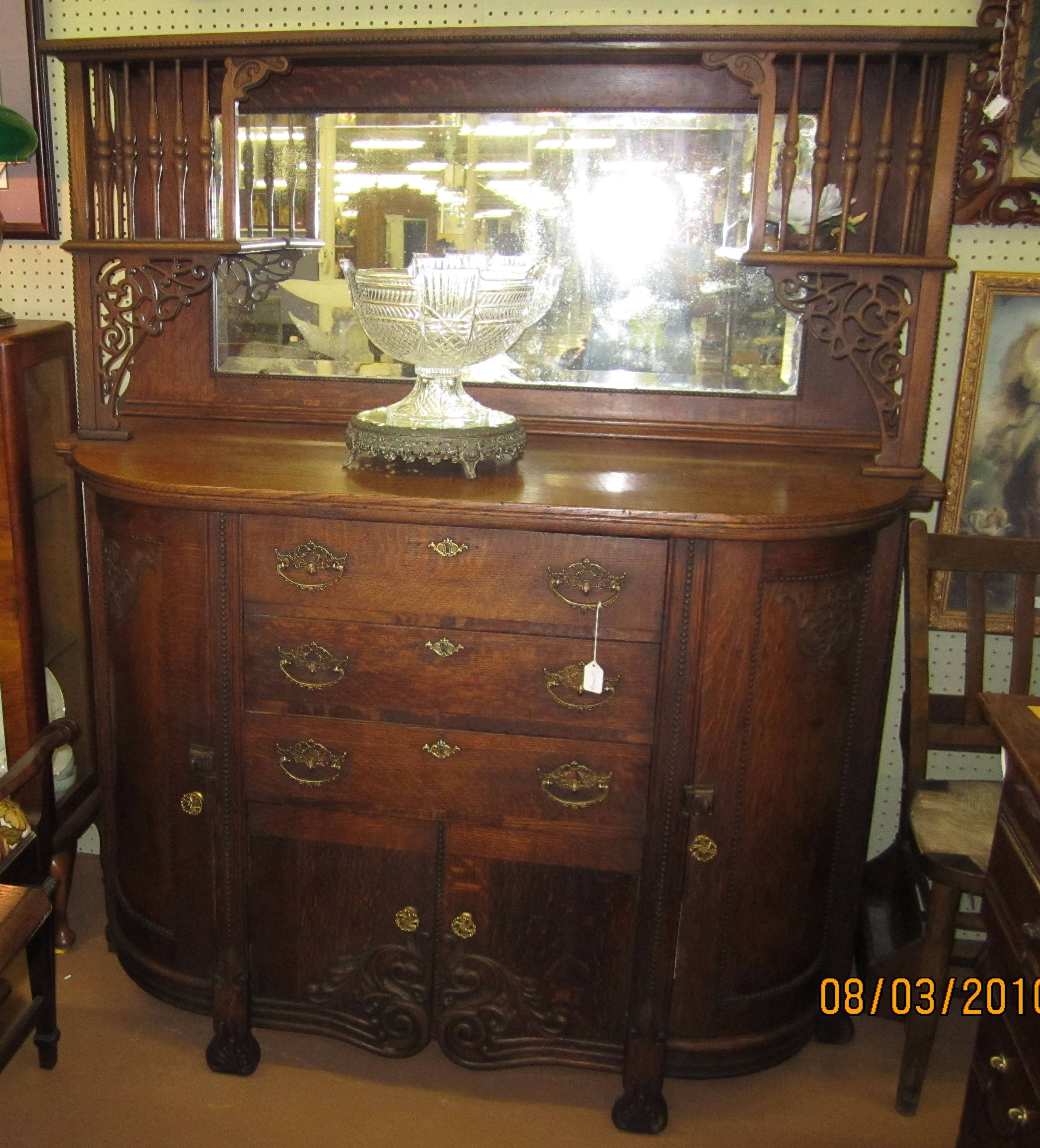 Inspiration about 1800's American Oak Sideboard/buffet For Sale | Antiques Throughout Best And Newest Antique Buffet Sideboards (#13 of 15)