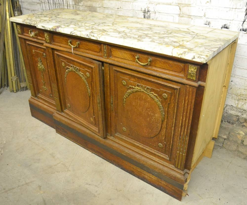 Inspiration about 1920S French Marble Top Sideboard | 467207 | Sellingantiques.co.uk Throughout 2017 Sideboards With Marble Tops (#9 of 15)