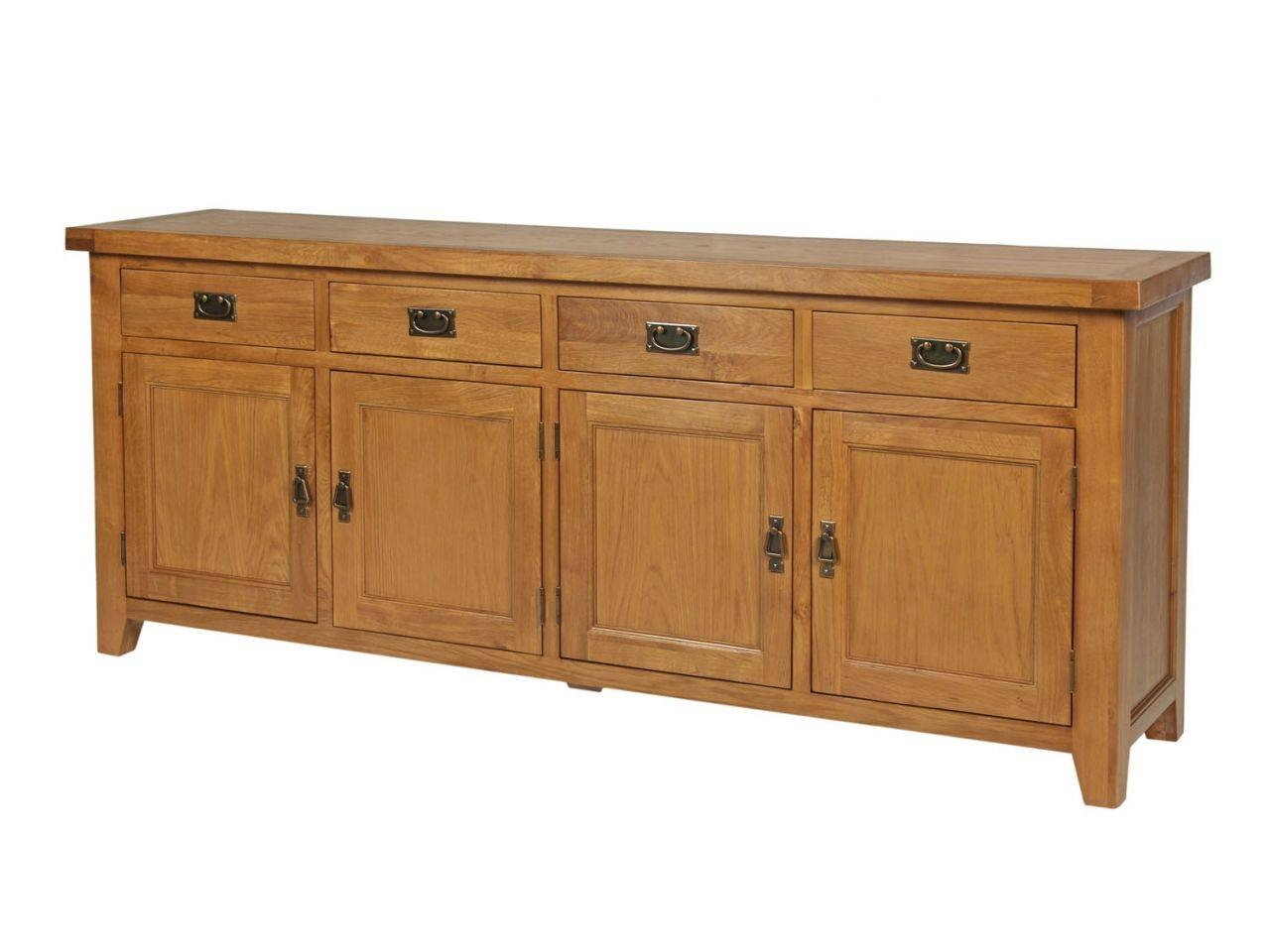 Inspiration about 200Cm Large Country Oak Sideboard | Large Oak Sideboard In Most Recent Large Oak Sideboard (#3 of 15)