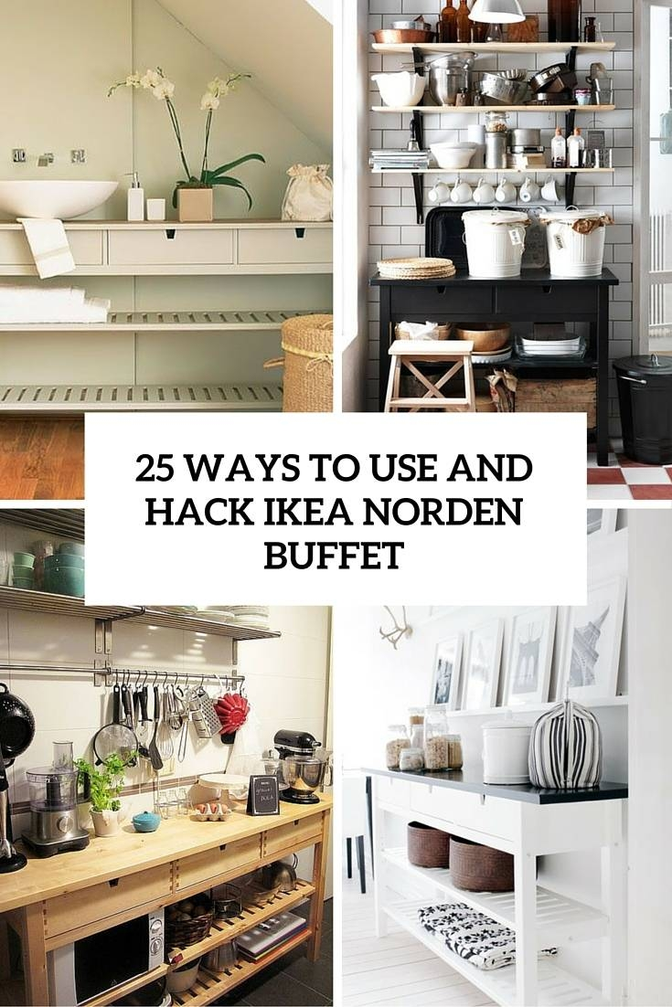 25 Ways To Use And Hack Ikea Norden Buffet – Digsdigs Throughout Most Recently Released Ikea Norden Sideboards (#1 of 15)