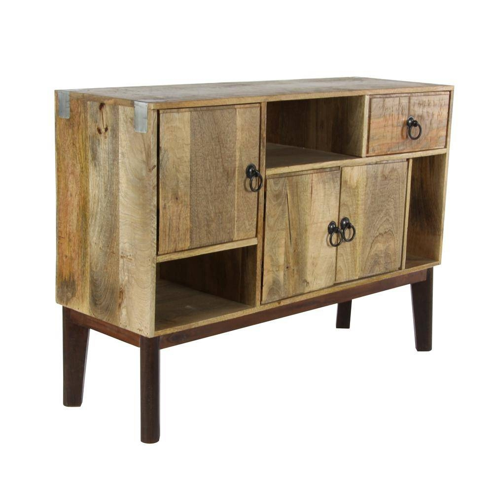 Inspiration about 30 In. X 42 In. Mango Wood Rectangular Sideboard In Stained Brown Within Best And Newest Wooden Sideboards (#15 of 15)