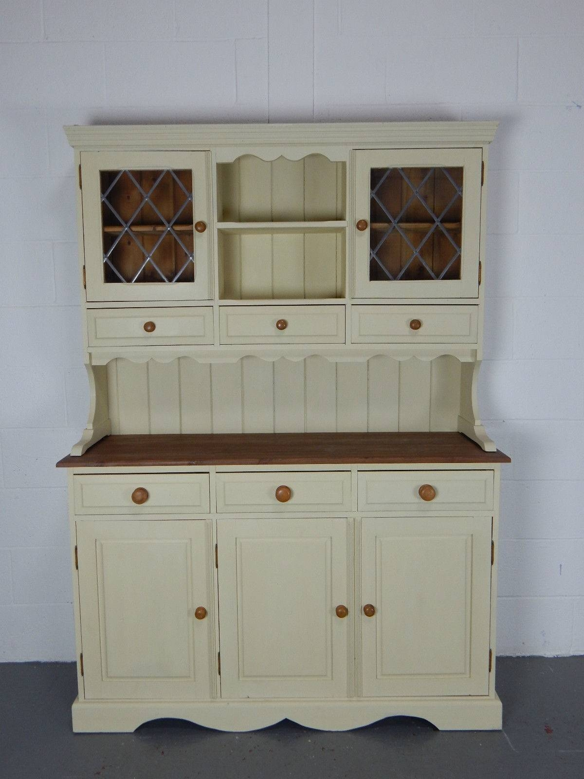 Inspiration about 4.5Ft Solid Pine Kitchen Welsh Dresser In Annie Sloan Cream For Newest Kitchen Dressers And Sideboards (#4 of 15)