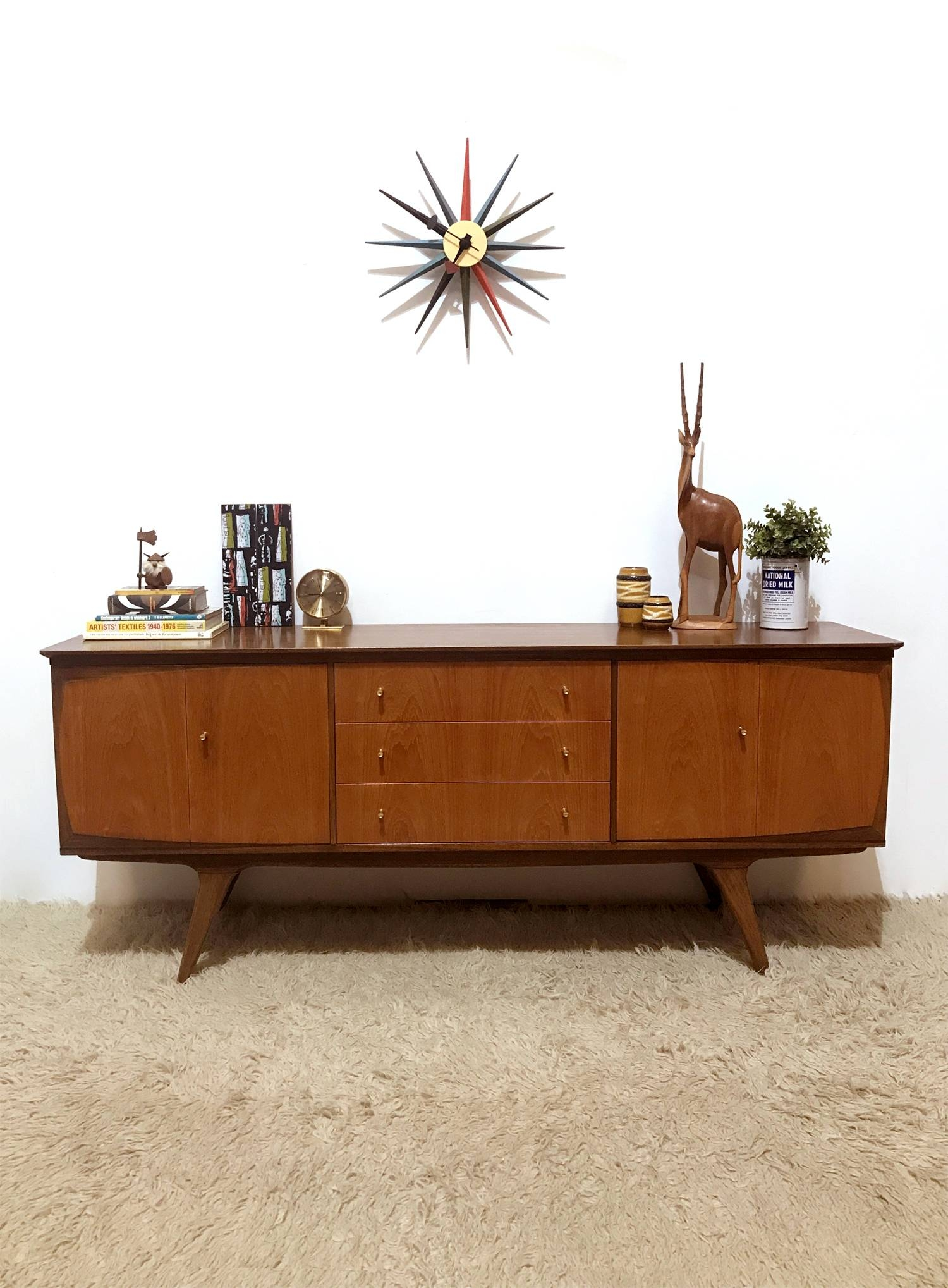 50s 60s Outstanding Mid Century Vintage Bi Folding Doors Sideboard Within Best And Newest 50s Sideboards (View 5 of 15)