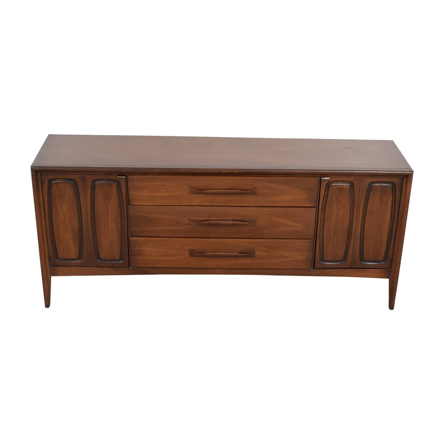 Inspiration about 51% Off – Broyhill Broyhill Vintage Emphasis Mid Century Credenza In Most Recent Media Sideboards (#6 of 15)