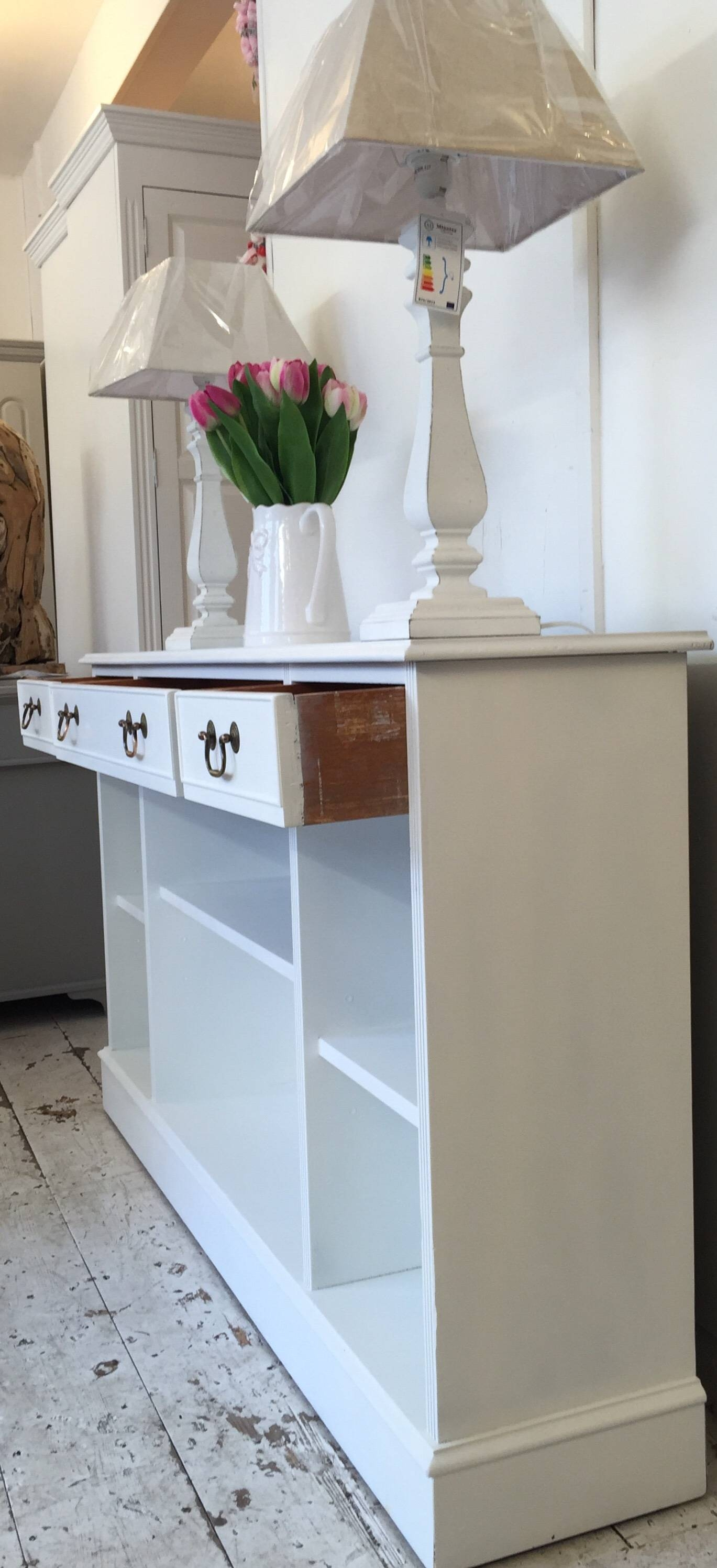 Inspiration about 5Ft 'all White' Shallow Sideboard – Bookcase – Home Sweet Homehome Pertaining To Recent Shallow Sideboards (#2 of 15)