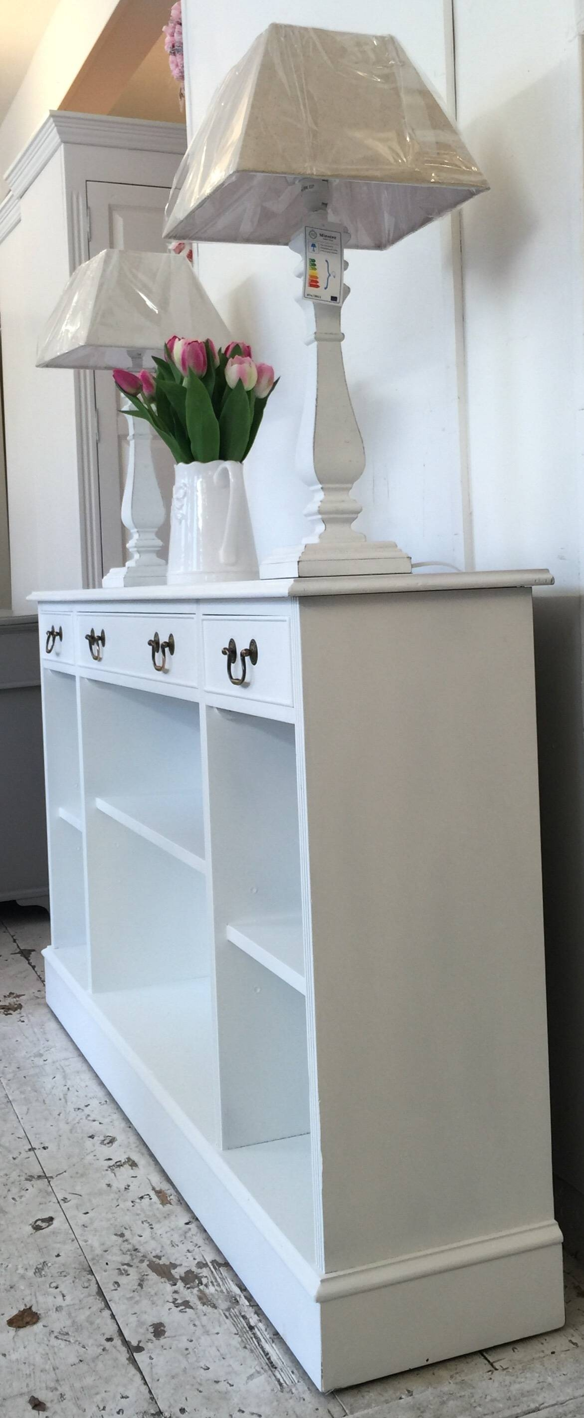 Inspiration about 5Ft 'all White' Shallow Sideboard – Bookcase – Home Sweet Homehome With Most Popular Shallow Sideboards (#3 of 15)
