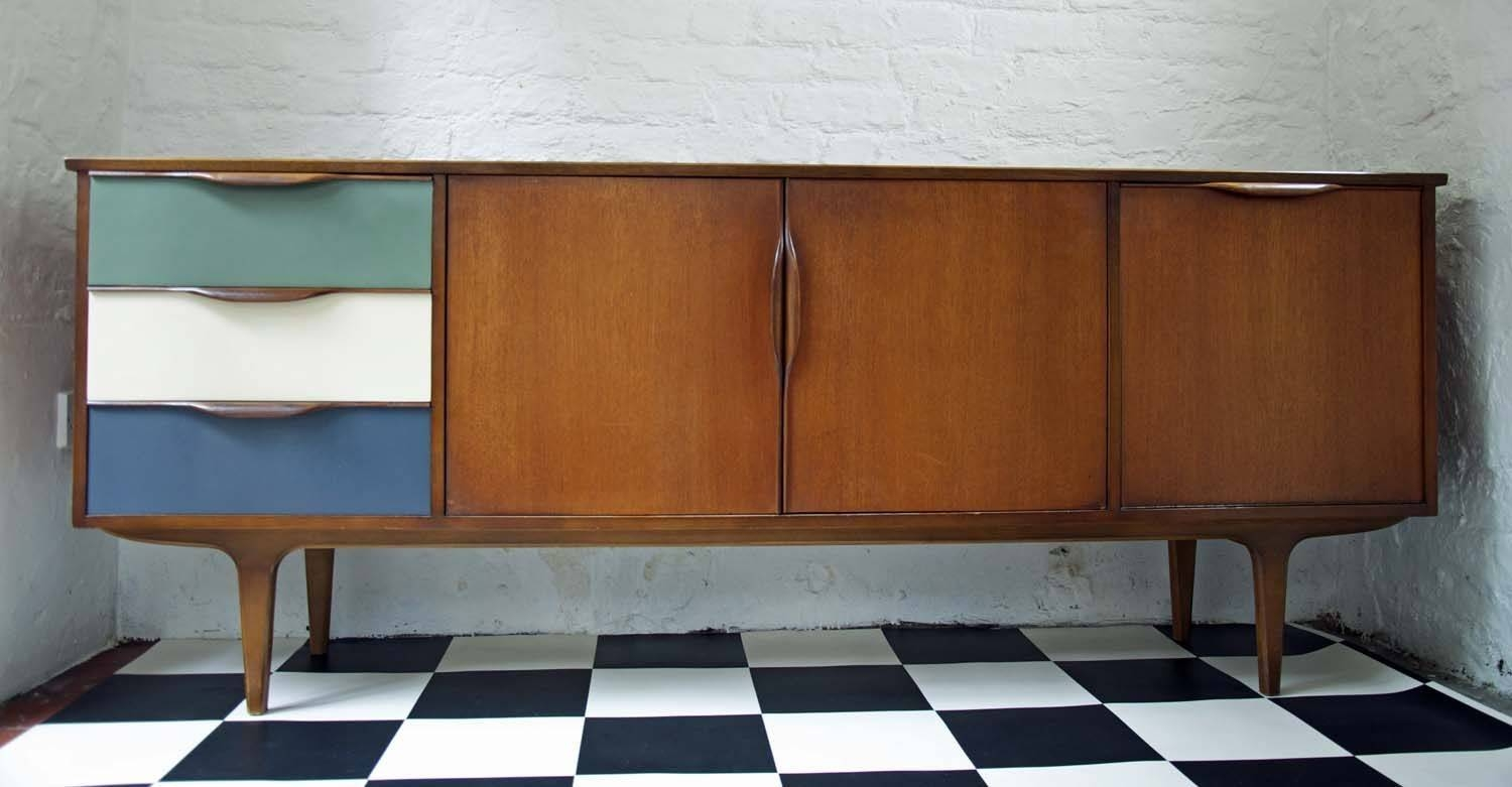 60's Upcycled G Plan Sideboard – Bring It On Home With Regard To Best And Newest Quirky Sideboards (#3 of 15)