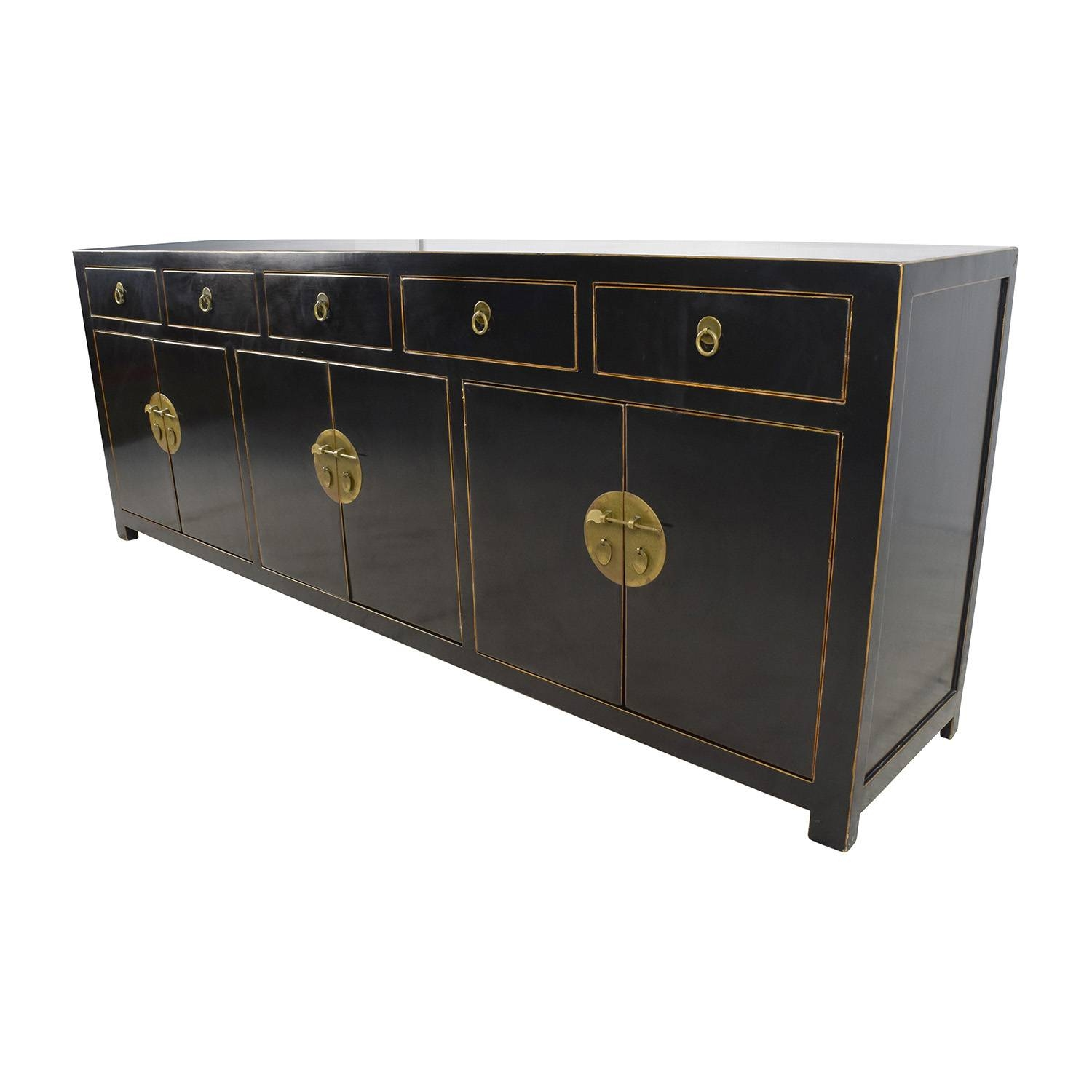 85% Off – Custom Made Black Drawer And Cabinet Sideboard / Storage With Regard To Most Recently Released Black Sideboard Cabinets (#1 of 15)