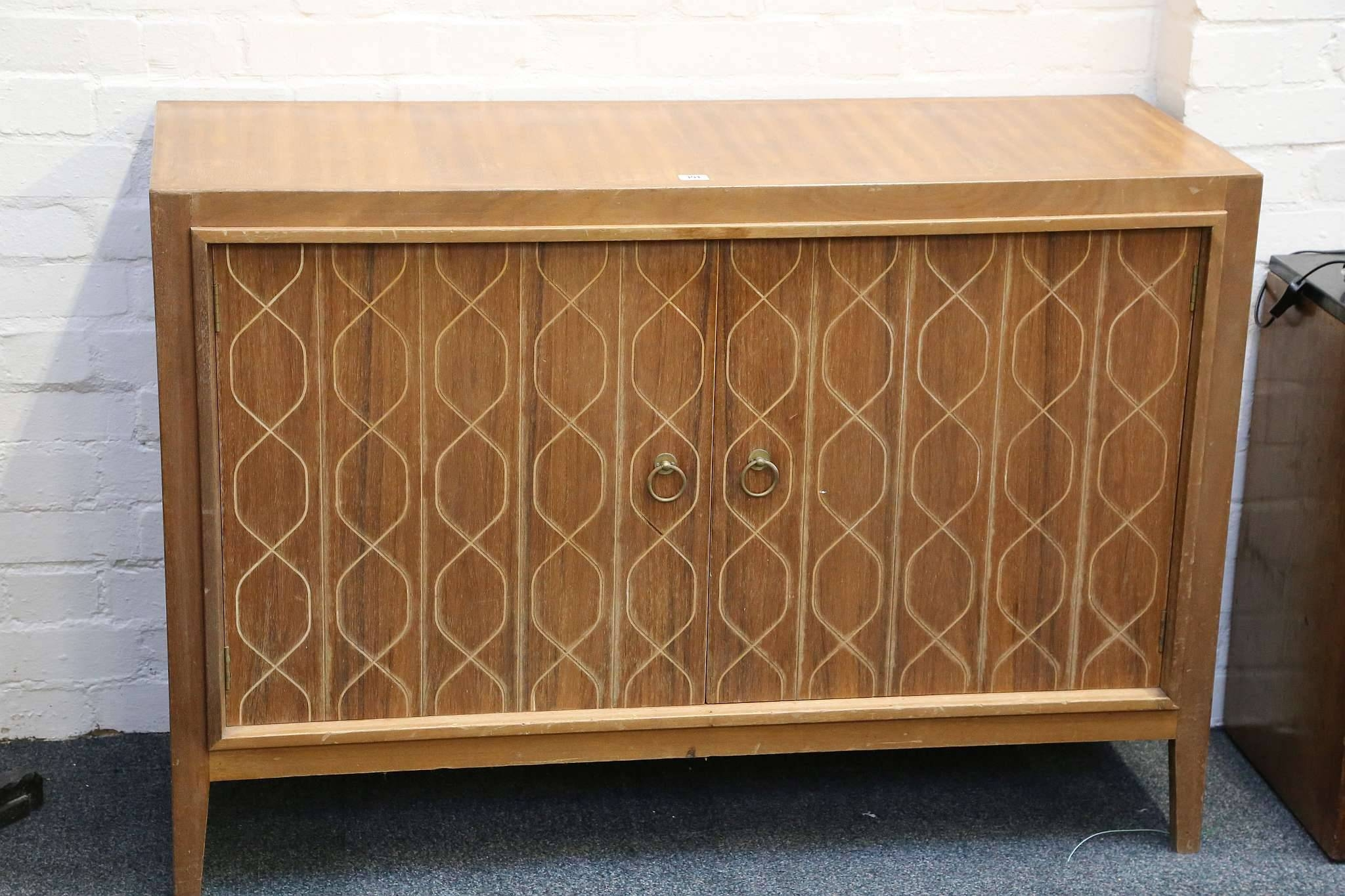 A 1950S Gordon Russell Teak Double Helix Sideboard, With Incised Inside Most Popular Gordon Russell Helix Sideboards (#1 of 15)
