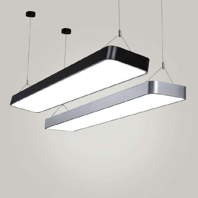 A1 Modern Pendant Lights Simple Led Office Long Strip Aluminum Regarding Most Popular Rectangular Pendant Lights (#3 of 15)