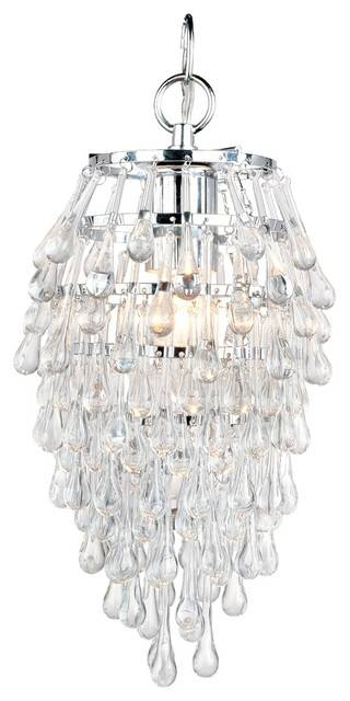 Af Lighting 4950 1H Elements Crystal Teardrop Mini Chandelier In Best And Newest Crystal Teardrop Pendant Lights (#4 of 15)