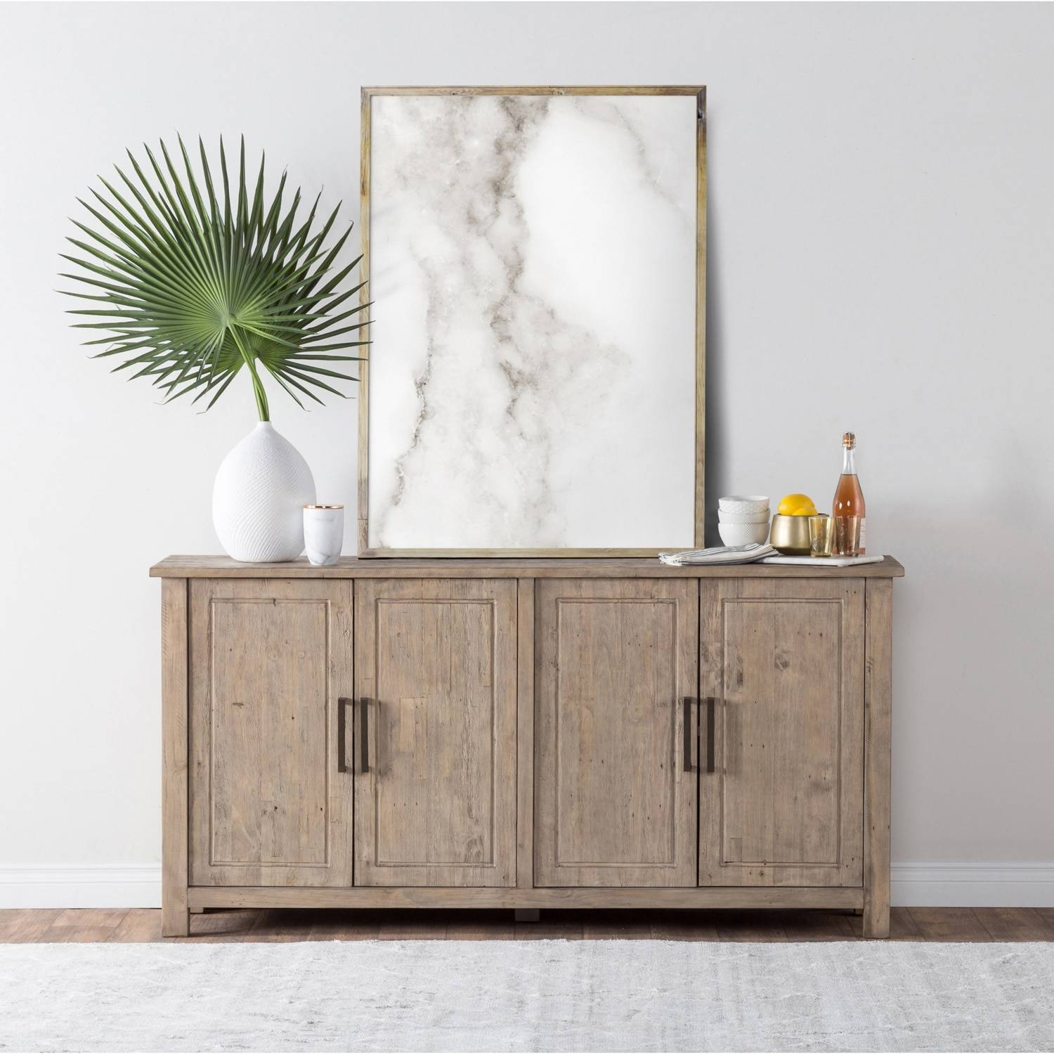 Aires Reclaimed Wood 72 Inch Sideboardkosas Home – Free Within Most Recently Released 72 Inch Sideboards (#4 of 15)