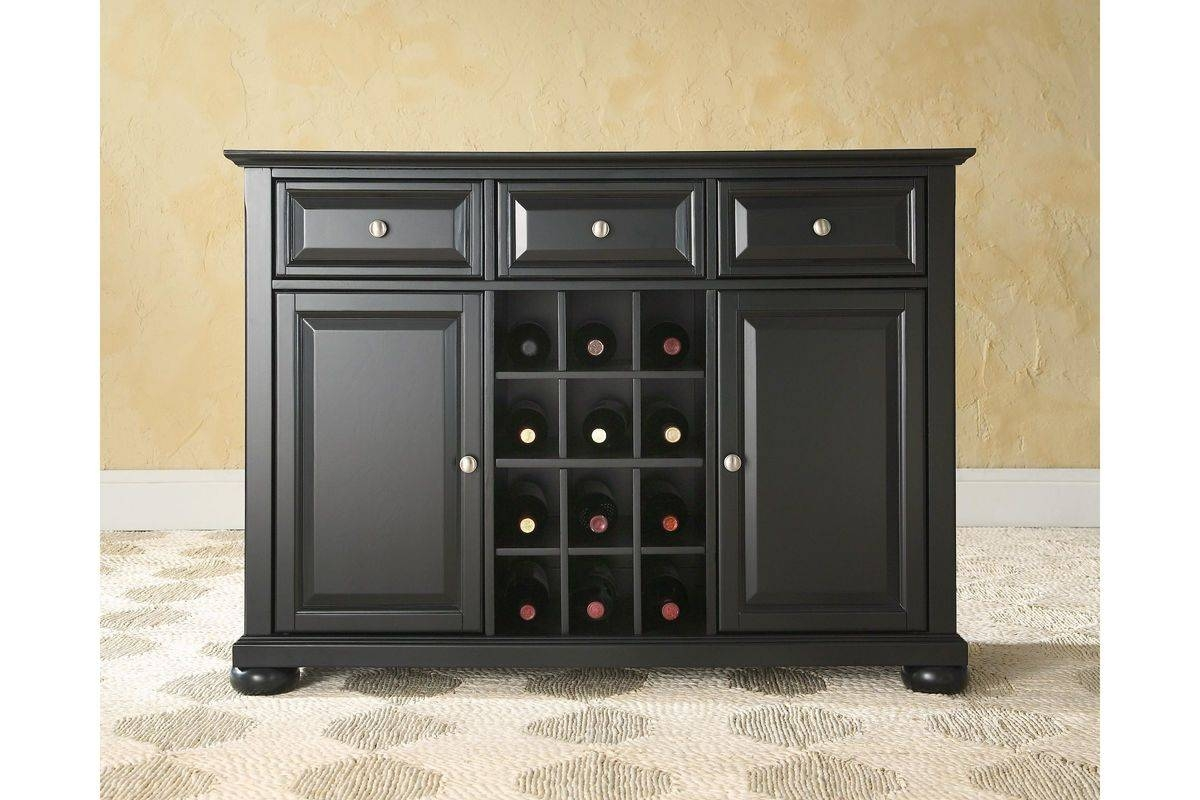 Alexandria Buffet Server / Sideboard Cabinet With Wine Storage In With Most Current Danville Sideboards (#1 of 15)