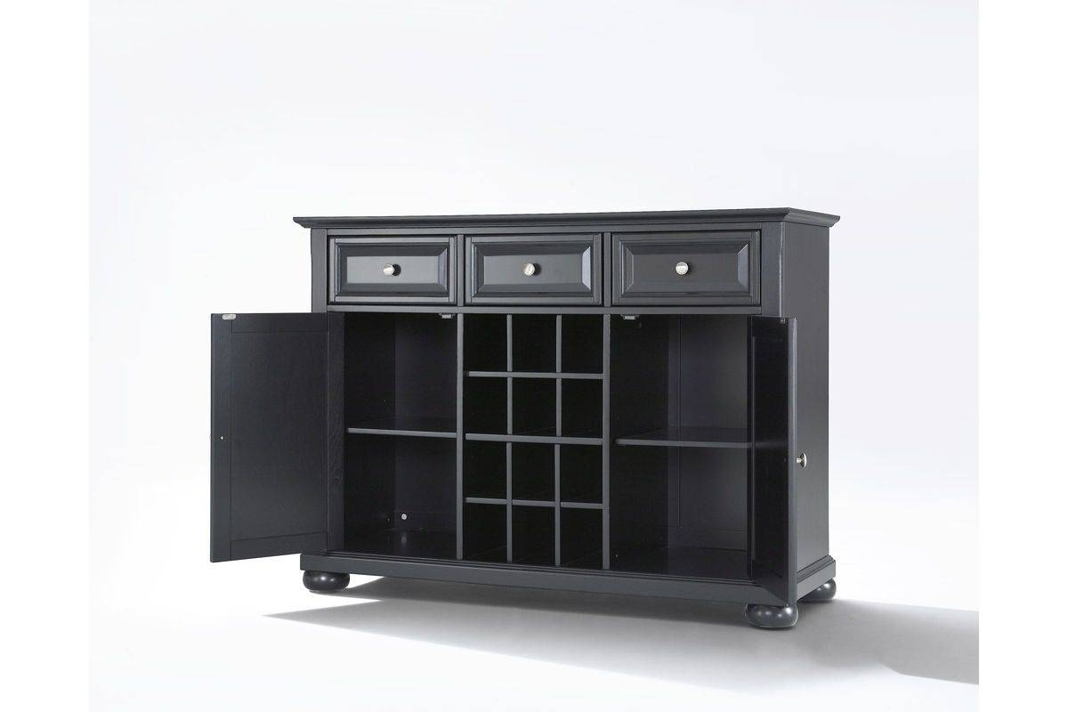 Alexandria Buffet Server / Sideboard Cabinet With Wine Storage In With Regard To Most Recent Server Sideboard Furniture (#3 of 15)