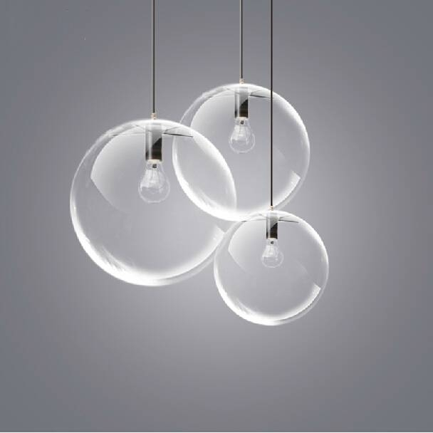 American Country Glass Ball Single Droplight Modern Glass Round For Newest Round Glass Pendant Lights (#1 of 15)