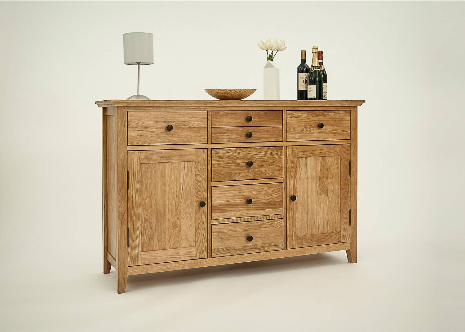 Ametis Hereford Rustic Oak Large Sideboard | Casamo – Love Your Home For Most Current Rustic Oak Large Sideboards (#1 of 15)