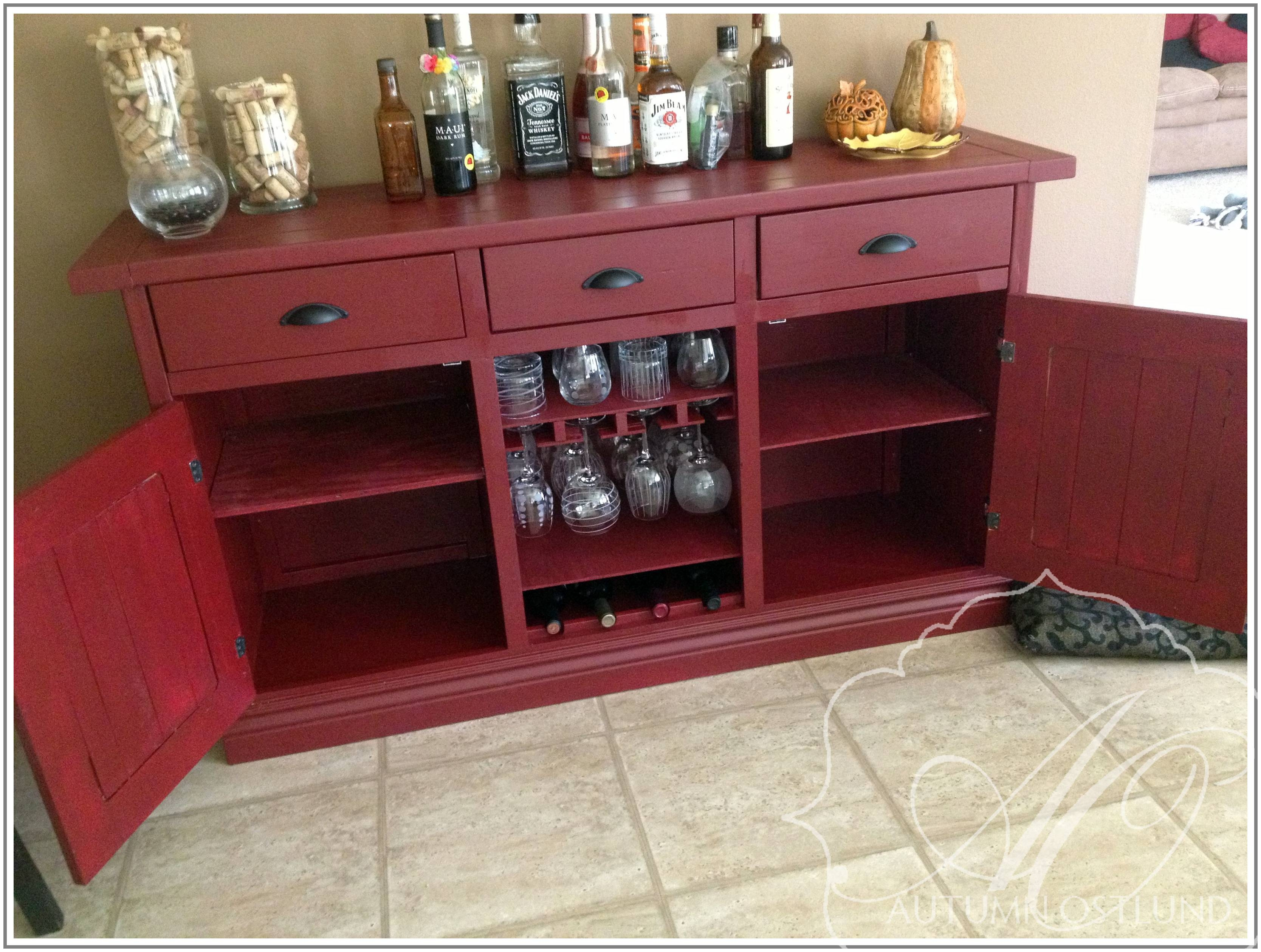 Popular Photo of Red Buffet Sideboards
