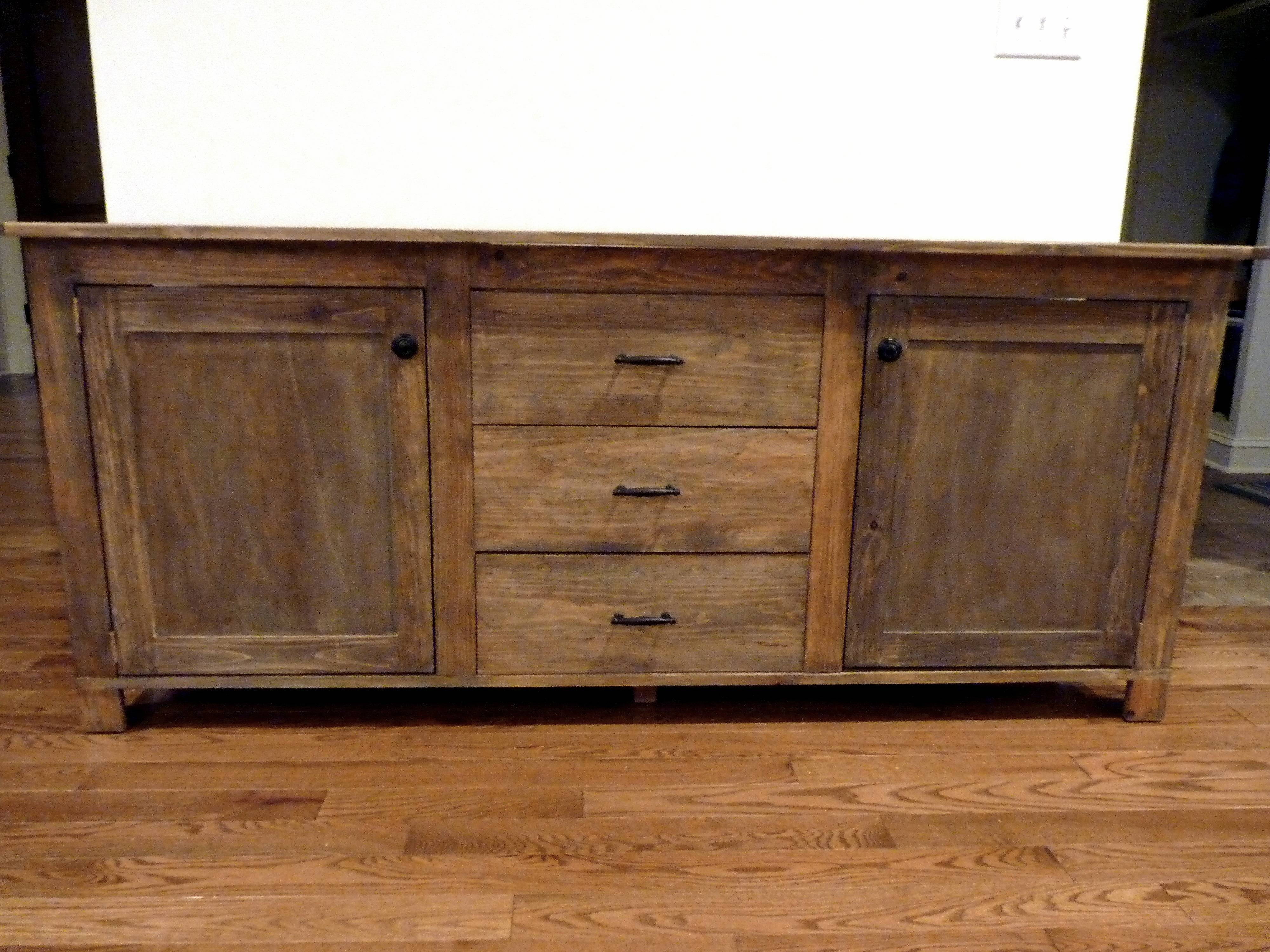 Ana White | Rustic Sideboard – Diy Projects Throughout Current Diy Sideboards (#3 of 15)