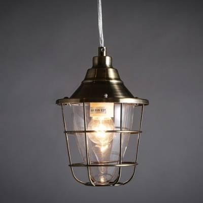 Antique Bronze Single Light Warehouse Outdoor Pendant Lighting In Recent Bronze Cage Pendant Lights (#1 of 15)