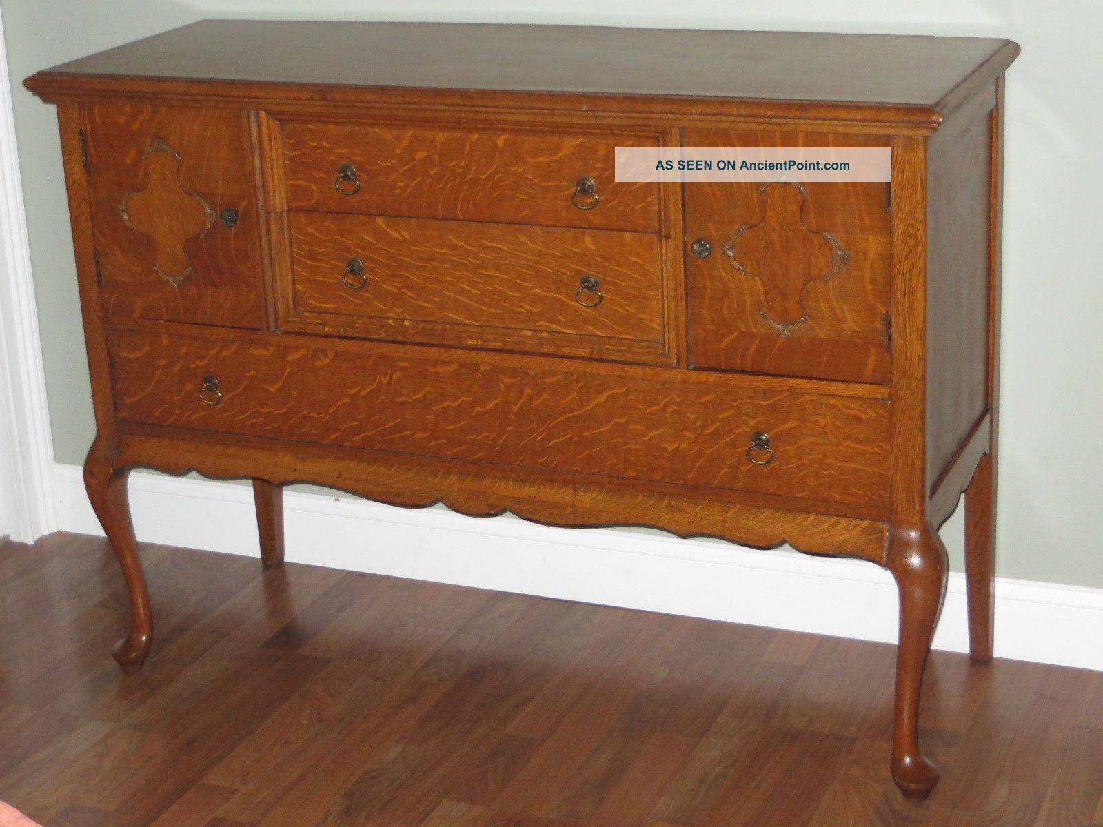 Antique Buffet Value Antique Tiger Oak Sideboard Buffet Server With 2018 Antique Sideboards And Buffets (#2 of 15)
