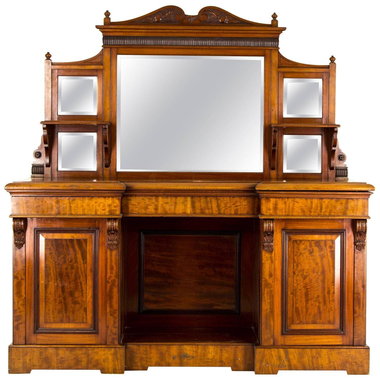 Antique Sideboard, Edwardian Mirror Back, Circa 1910 For Sale At Intended For Most Recent Antique Sideboards With Mirror (#2 of 15)